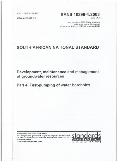 SANS 10299-4:2003 Standard